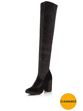miss-selfridge-velvet-block-heel-over-knee-bootnbsp