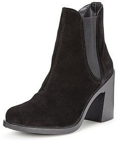 miss-selfridge-suede-ankle-boot