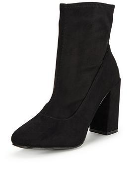 miss-selfridge-black-sock-ankle-boot