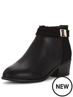miss-selfridge-miss-selfridge-black-clean-zip-ankle-boot