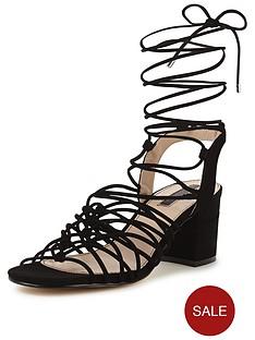 miss-selfridge-miss-selfridge-black-knotted-block-heel-sandal