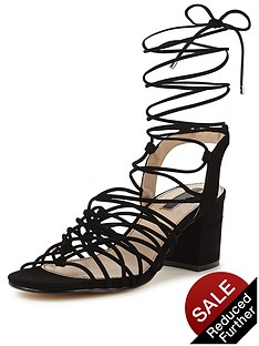 miss-selfridge-miss-selfridge-black-knotted-block-heel-sandal