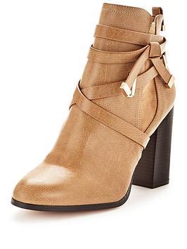 miss-selfridge-wrap-strap-ankle-bootnbsp