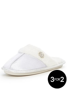 v-by-very-maggie-velvet-mule-faux-fur-sparkle-slipper-cream