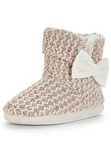 Buffy Knitted Bootie With Bow Detail