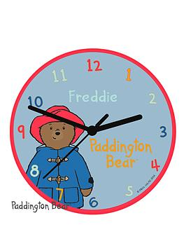 paddington-bear-personalised-clock