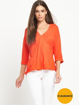 river-island-wrap-blouse-orange