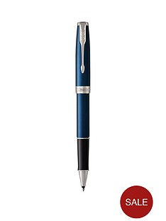 parker-sonnet-blue-lacquer-chrome-trim-roller-ball-pen