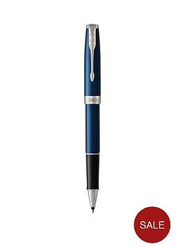 parker-sonnet-blue-lacquer-chrome-trim-roller-ball-pen