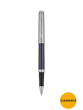 waterman-hemisphere-luxury-sapphire-chrome-trim-roller-ball-pen