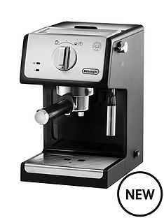 delonghi-ecp-traditional-pump-coffee-machine-silverblack