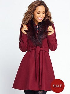 myleene-klass-fit-and-flare-belted-coat-burgundy