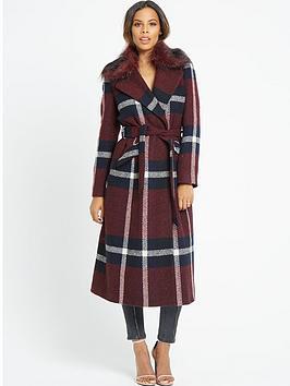 rochelle-humes-fur-collar-check-midi-coat