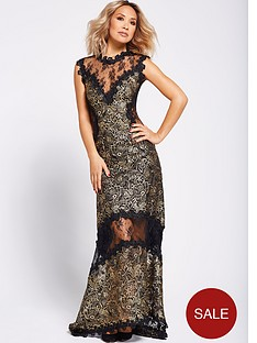 myleene-klass-metallic-lace-maxi-dress-blackgold
