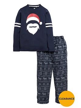 v-by-very-boys-christmas-santa-jersey-and-fleece-pyjamas-set