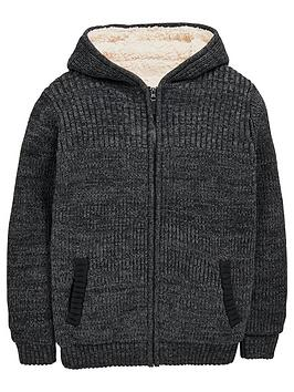 v-by-very-boys-borg-lined-chunky-zip-through-cardigan
