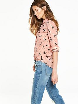 v-by-very-flamingo-print-button-through-blouse