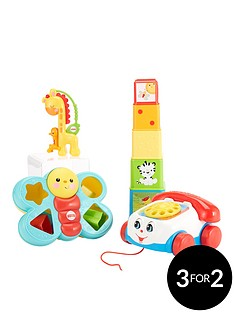 fisher-price4-set-pack-phone-explore-blocks-shapersorter-slider-rattle