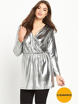 v-by-very-curve-metallic-tunic
