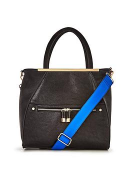 miss-selfridge-metal-bar-tote-bag-black