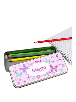 personalised-butterfly-pencil-tin