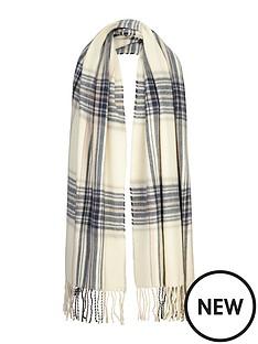 miss-selfridge-miss-selfridge-reverse-check-scarf