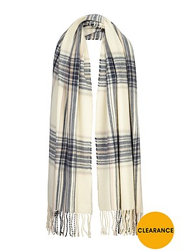 miss-selfridge-reverse-check-scarf