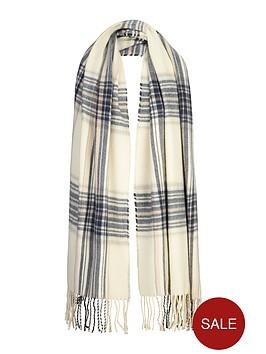 miss-selfridge-reverse-check-scarf