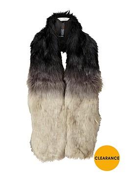 miss-selfridge-faux-fur-ombre-scarf-grey