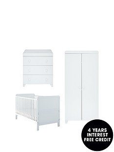 little-acorns-classic-white-cot-bed-wardrobe-amp-changernbspbuy-and-save