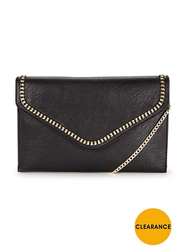 dune-essy-chain-clutch-bag-black