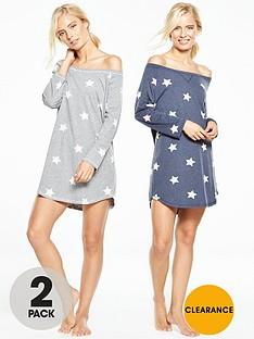 v-by-very-2-pack-star-nightdress