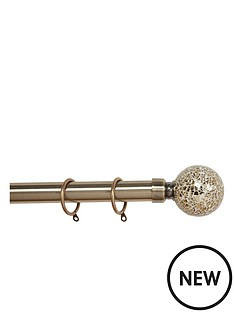 glamour-extendable-crackle-glass-finial-pole-set