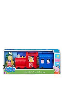 Peppa Pig Peppa Pig Miss Rabbits Train &Amp Carriage