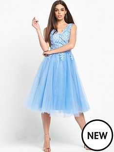 chi-chi-london-chi-chi-london-embroidered-v-neck-midi-dress-with-tulle-skirt