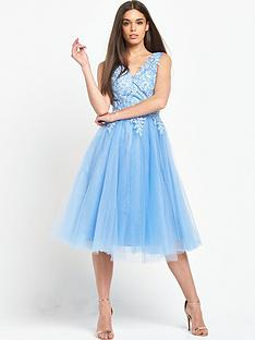 chi-chi-london-embroidered-v-neck-midi-dress-with-tulle-skirt