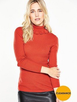 v-by-very-roll-neck-frill-collar-skinny-rib-jumper