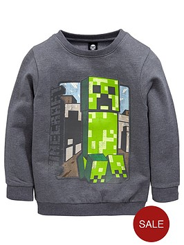 minecraft-boys-vintage-steve-creeper-sweat-top