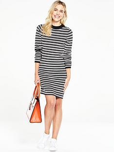 v-by-very-stripe-monochrome-knitted-dress