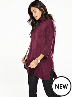 v-by-very-roll-neck-oversized-cape-tunic