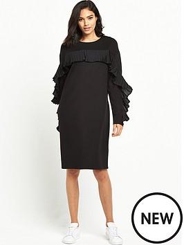 warehouse-frill-sweat-dress