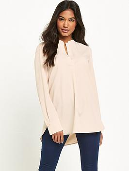 warehouse-half-placket-blouse