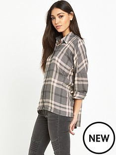 warehouse-batwing-check-shirt