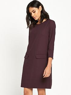 warehouse-pocket-front-crepe-dress
