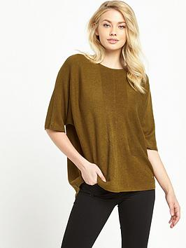 warehouse-rib-panel-boxy-jumper-mustard