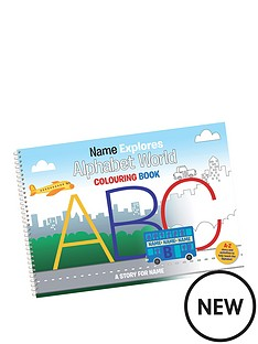 personalised-alphabet-world-colouring-book