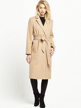 miss-selfridge-midi-belted-coat-camel