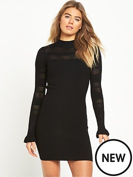 miss-selfridge-pointelle-rib-bodycon