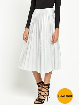miss-selfridge-petite-metallic-pleated-midi-skirt