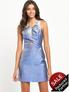 miss-selfridge-blue-glitter-dress-metallic